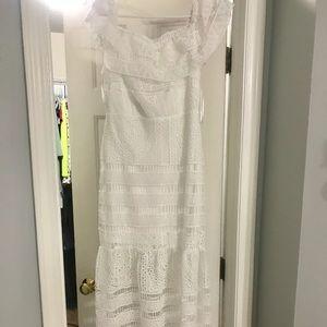 Lolas white crochet dress